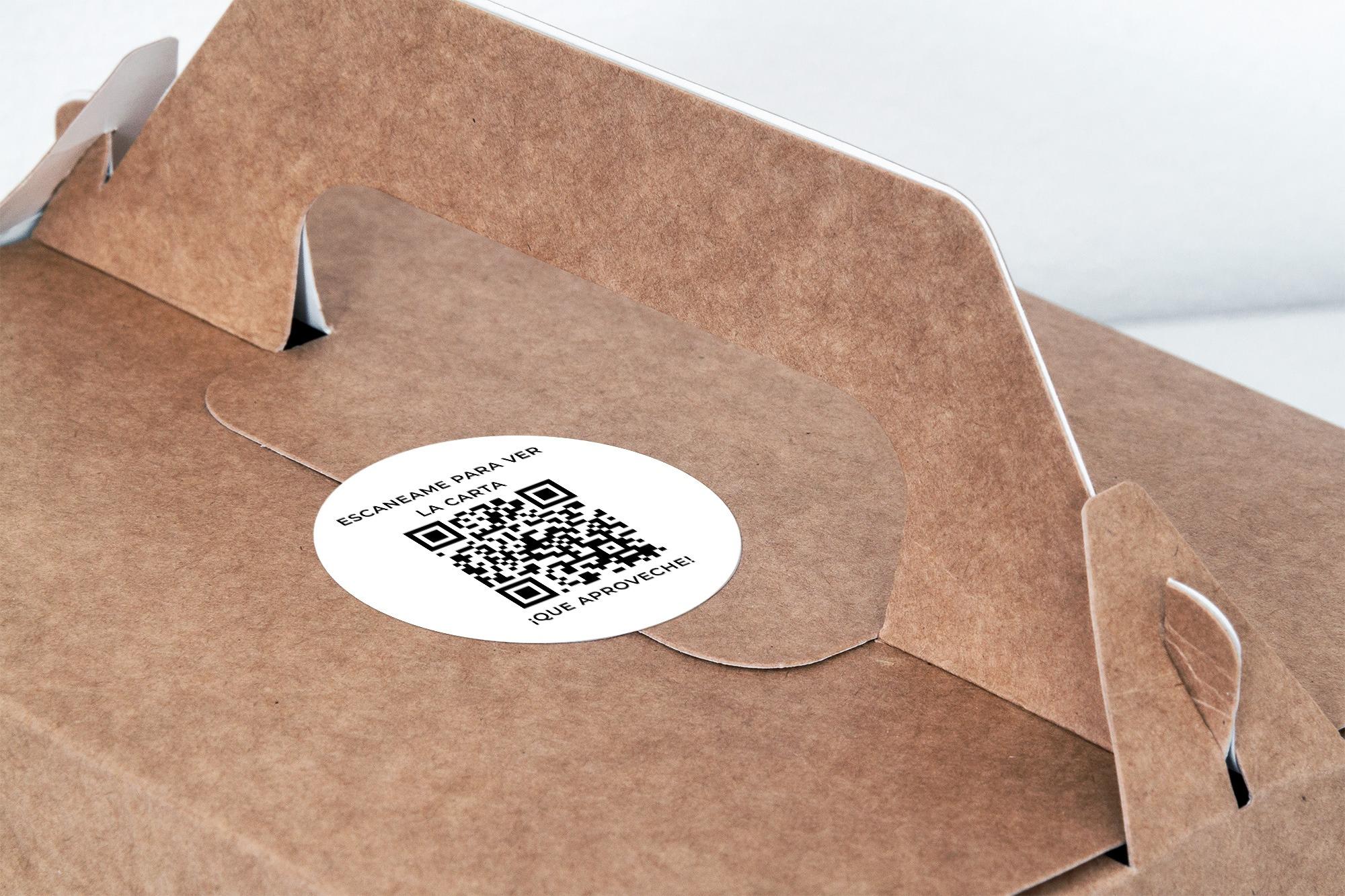 Etiqueta adhesiva para delivery