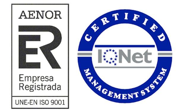 certificado aenor iso 9001 mamparalia